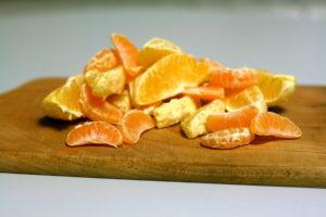 Apelsinų ir mandarinų skiltelės
