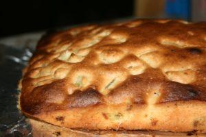 Katik iškeptas rabarbarų pyragas