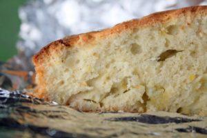 Perpjautas rabarbarų pyragas
